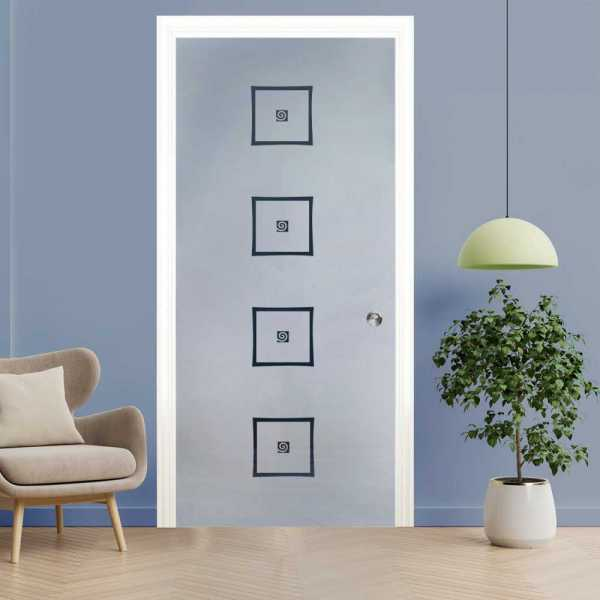 Pocket Glass Barn Door (Model PSGD-0005 Semi-Private)