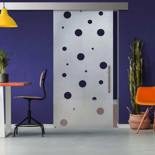 Glass Barn Door (Model SGD-ALU100-0319 Semi-Private)