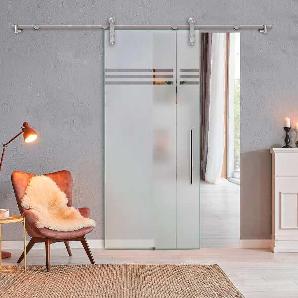 Sliding Glass Barn Door (Model SGD-V1000-0088 Semi-Private)