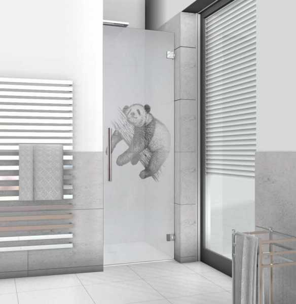 "Pivot Shower Door with and inclined cut 31 1/4"" x 31 1/2"" x 78"", 10mm glass thickness, semi-private"
