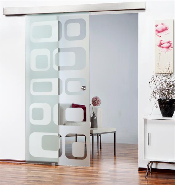 Glass Barn Door (Model SGD-ALU100-0119 Semi-Private)