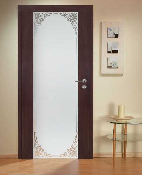 Solid Wood Hinged Door with Glass Insert HWDI-0023
