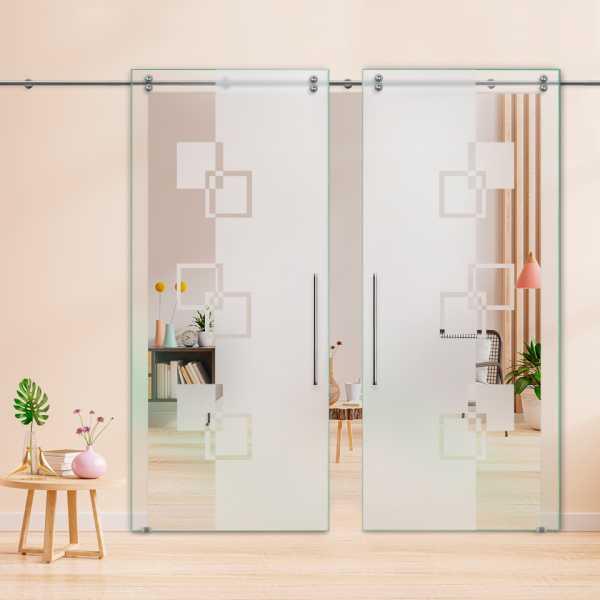 Glass Barn Door (Model DSGD-V2000-0041 Semi-Private)