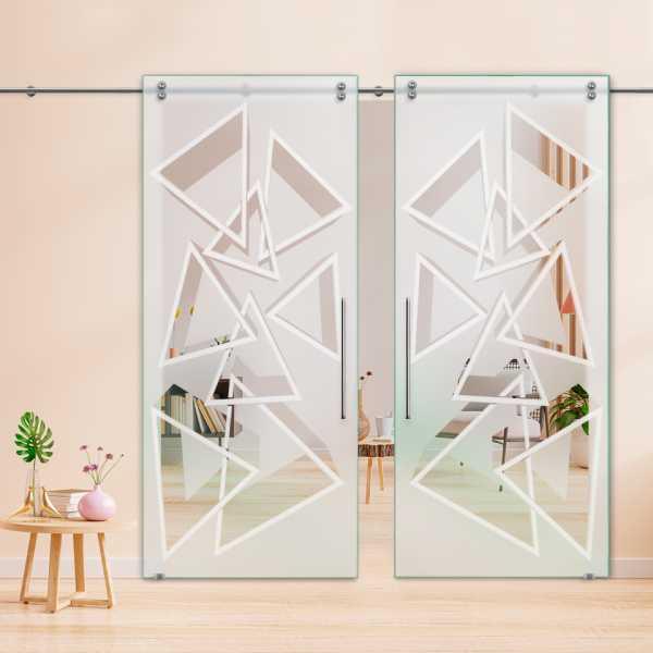 Glass Barn Door (Model DSGD-V2000-0005 Semi-Private)