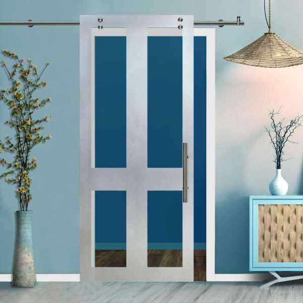 Glass Barn Door (Model SGD-V2000-0226 Semi-Private)
