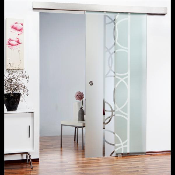 Glass Barn Door (Model SGD-ALU100-0116 Semi-Private)