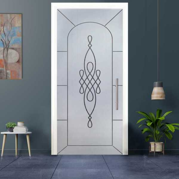 Sliding Pocket Glass Door with Frosted Design and Hardware PSGD-0026