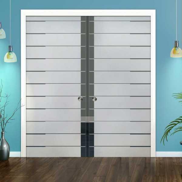 Double Pocket Glass Barn Door (Model DPSGD-0122 Semi-Private)_Recessed Grip Handle