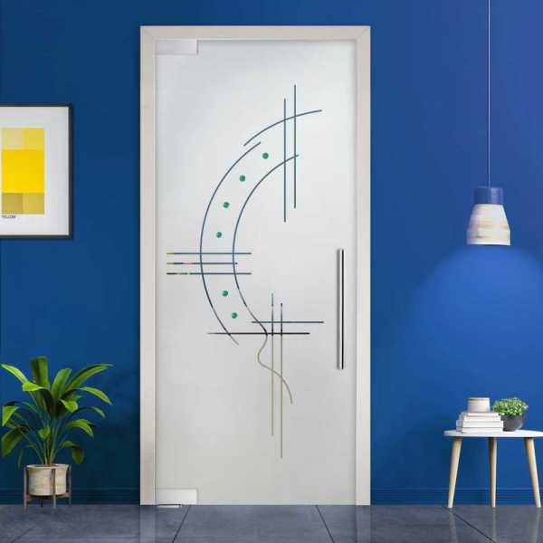 Pivot Glass Door (Model PD-0062 Semi-Private) with Handle Bar