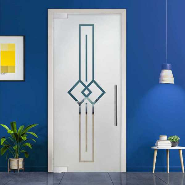 Pivot Glass Door (Model PD-0036 Semi-Private) with Handle Bar
