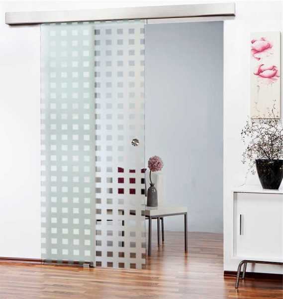 Sliding Glass Barn Door SGD-ALU100-0099 semi-private