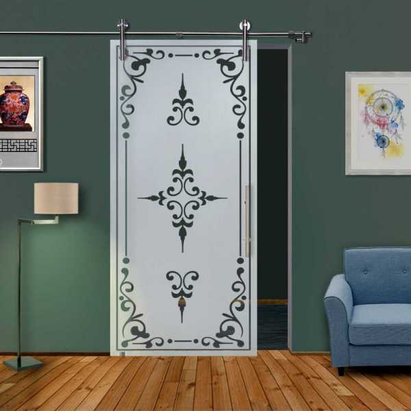 Glass Barn Door (Model SGD-V1000-0319 Semi-Private)