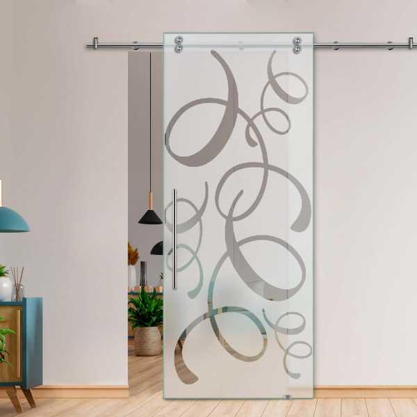 Glass Barn Door (Model SGD-V2000-0083 Semi-Private)