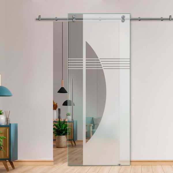 Glass Barn Door (Model SGD-V2000-0248 Semi-Private)