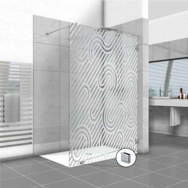 Frameless Fixed Shower Glass Panel FSS-0030
