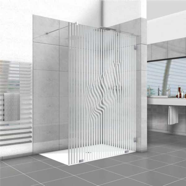 Frameless Fixed Shower Glass Panel FSS-0021