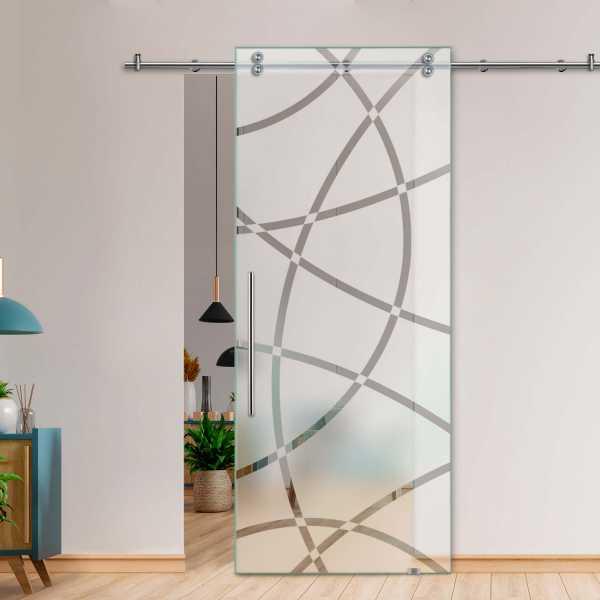 Glass Barn Door (Model SGD-V2000-0028 Semi-Private)