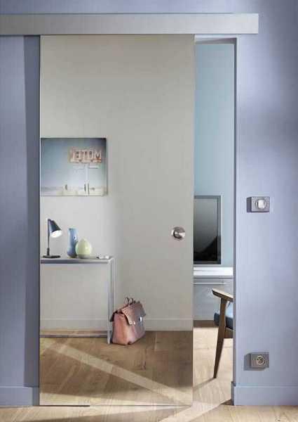 Sliding Glass Barn Door SMD-ALU100-0001 recessed grip handle