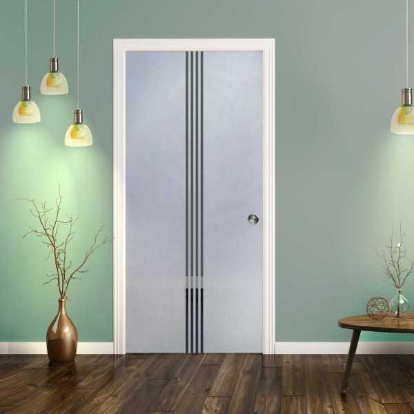 Pocket Glass Barn Door (Model PSGD-0075 Semi-Private)