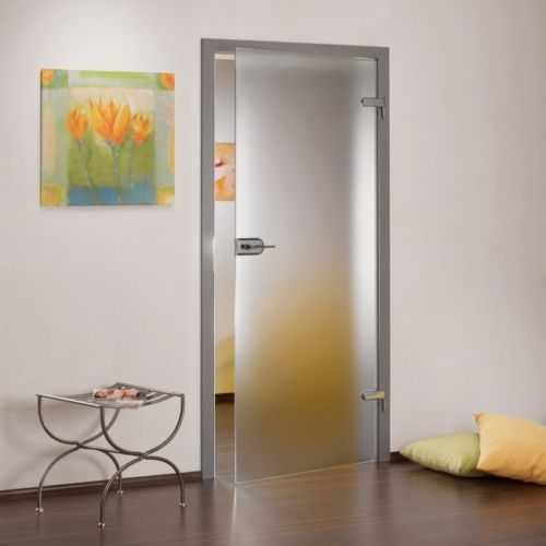 "6x hinged glass door, opaque, 32""x96"", thickness: 8 mm, opening direction: left/right with lock"