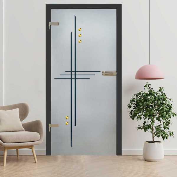 Hinged Glass Door (Model HGD-H+H-0057 Semi-Private)