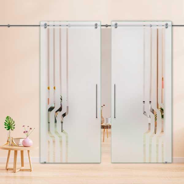 Glass Barn Door (Model DSGD-V2000-0040 Semi-Private)