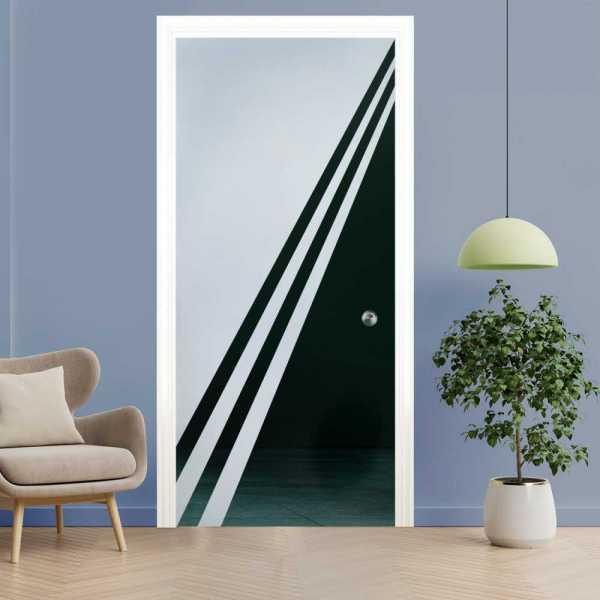Pocket Glass Barn Door (Model PSGD-0080 Semi-Private)
