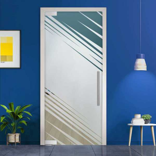 Pivot Glass Door (Model PD-0031 Semi-Private) with Handle Bar
