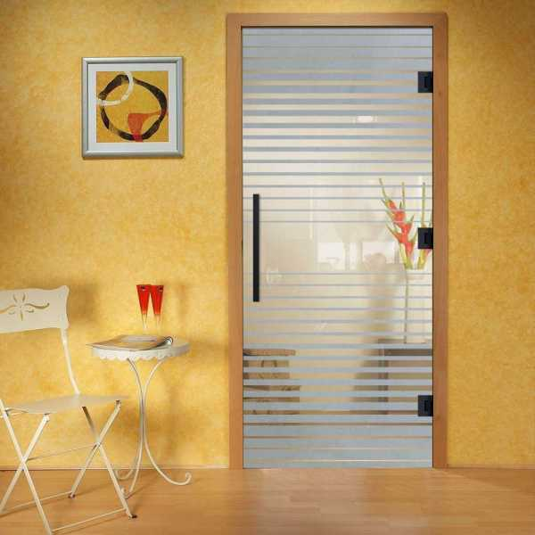 """Pivot Glass Door, 38x82"""", Glass Thickness: 10mm and Non-Private Design"""