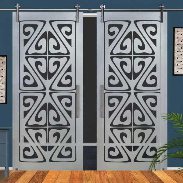 Double Glass Barn Door (Model DSGD-V1000-0064 Semi-Private)