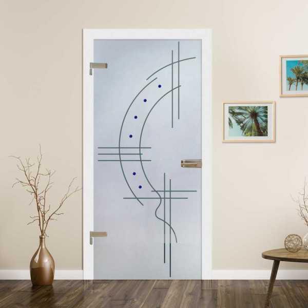 Hinged Glass Door (Model HGD-H+H-0061 Semi-Private)