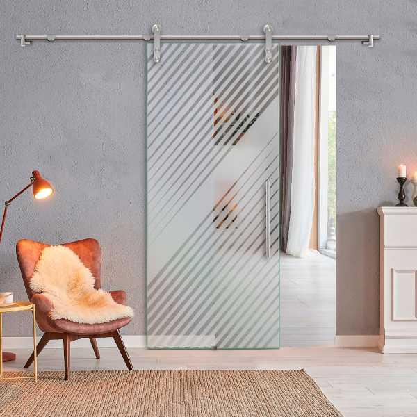Glass Barn Door (Model SGD-V1000-0325 Semi-Private)