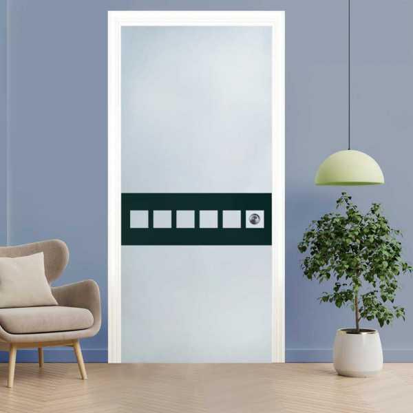 Pocket Glass Barn Door (Model PSGD-0129 Semi-Private)
