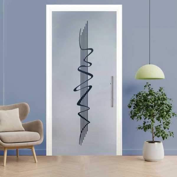 Sliding Pocket Glass Door with Frosted Design and Hardware PSGD-0052