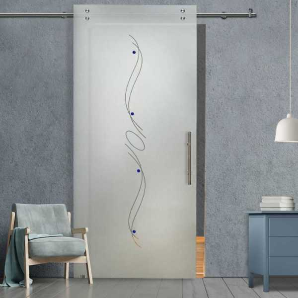 Glass Barn Door (Model SGD-V2000-0212 Semi-Private)