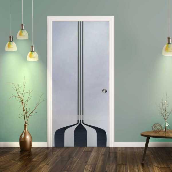 Pocket Glass Barn Door (Model PSGD-0076 Semi-Private)
