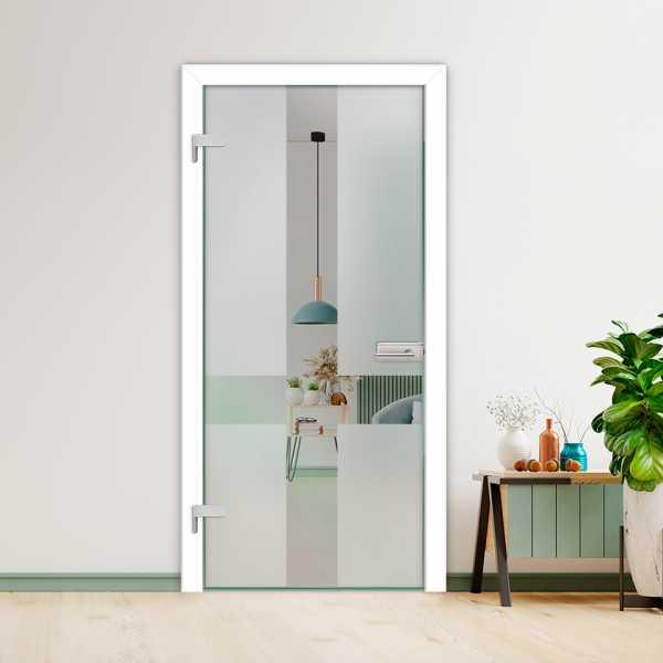 Hinged Glass Door (Model HGD-H+H-0092 Semi-Private)