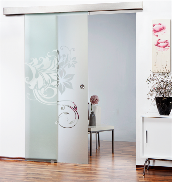 Sliding Glass Barn Door SGD-ALU100-0057 semi-private