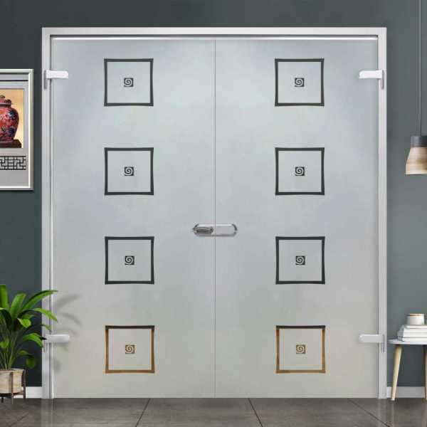 Double Hinged Glass Door H-H+DHGD-0022