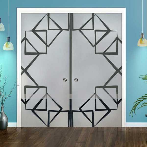 Double Pocket Glass Barn Door (Model DPSGD-0124 Full-Private)_Handle Bar