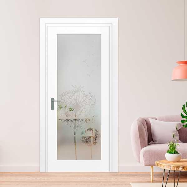1 Lite Interior Door with Glass Insert (Model 1LID-0003 Semi-Private)