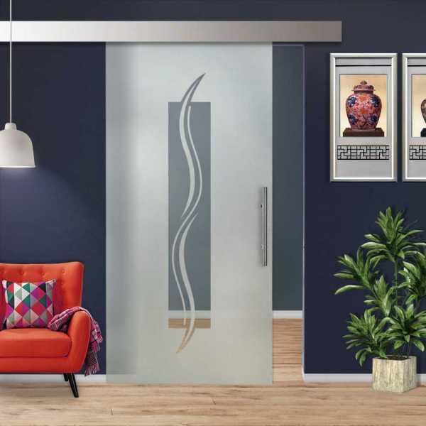 Sliding Glass Barn Door SGD-ALU100-0223