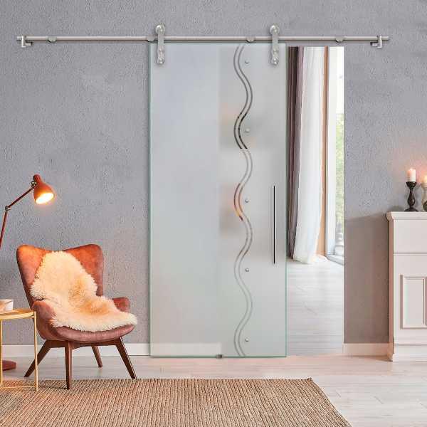 Glass Barn Door SGD-V1000-0047 Semi-Private
