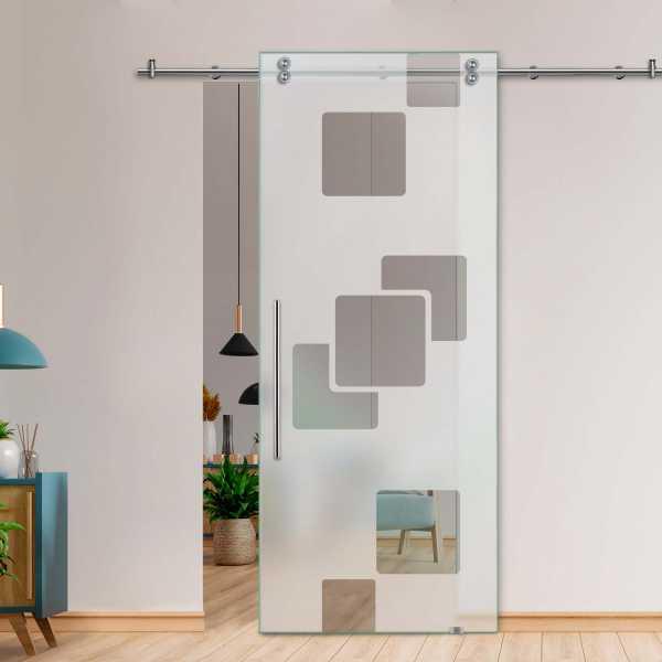 Glass Barn Door (Model SGD-V2000-0422 Semi-Private)