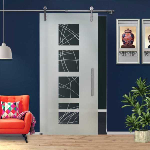 Sliding Glass Barn Door SGD-V1000-0200
