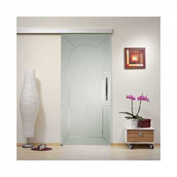 Sliding Glass Barn Door SGD-ALU100-0011 semi-private