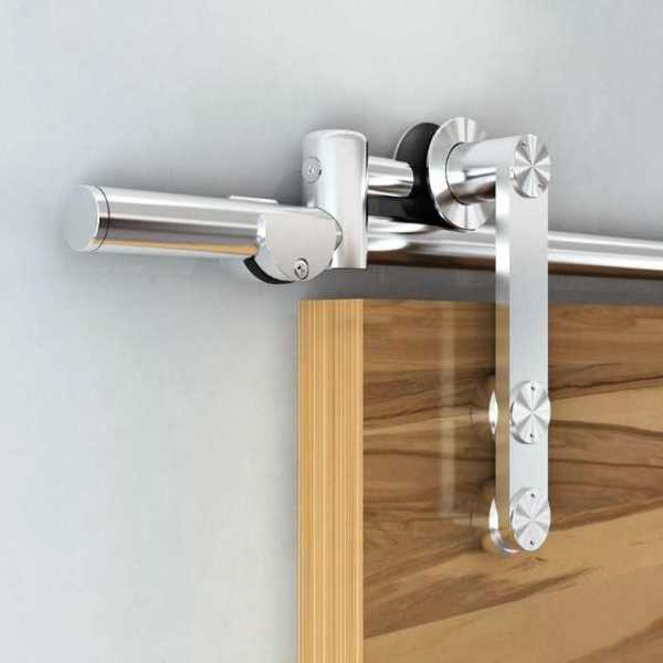 Stainless Steel Sliding Wood Barn Door Hardware Kit SH-SS-0014