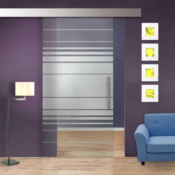 Glass Barn Door (Model SGD-ALU100-0063 Semi-Private)
