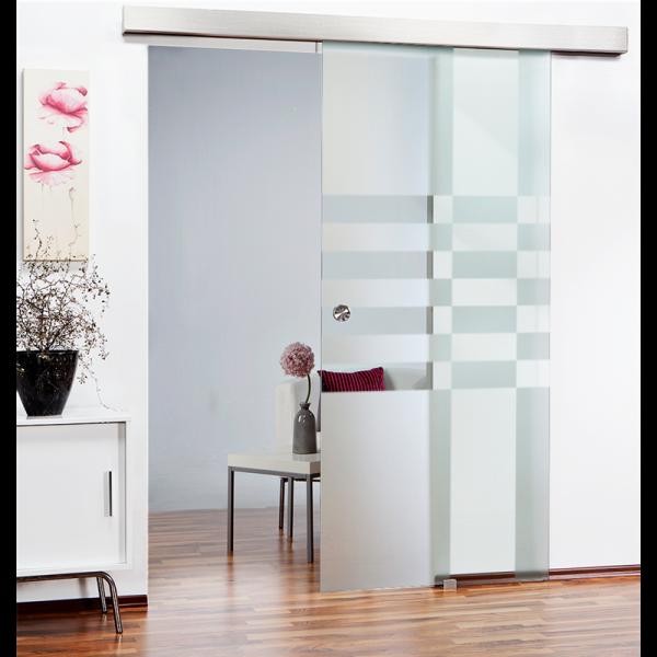 Glass Barn Door (Model SGD-ALU100-0097 Semi-Private)