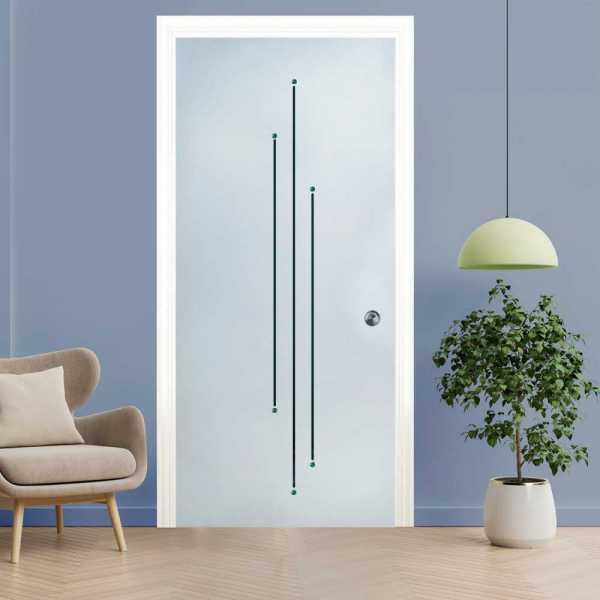 Pocket Glass Barn Door (Model PSGD-0123 Semi-Private)